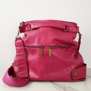 Matt & Nat Vegan Leather Magenta Hobo Satchel